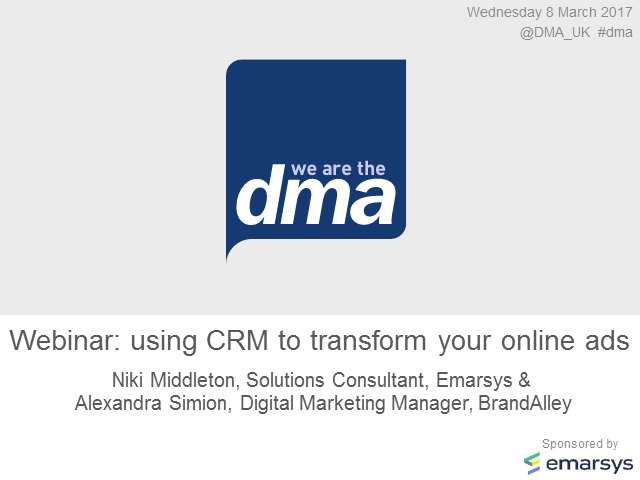 Webinar: using CRM to transform your online ads