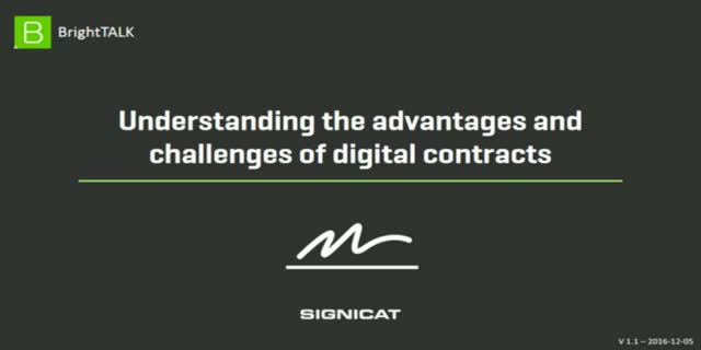 Understanding the advantages and challenges of digital contracts