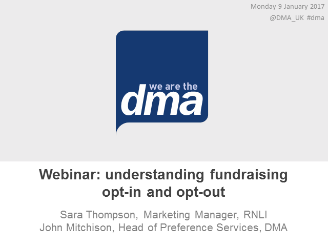 Webinar: understanding fundraising opt-in and opt-out