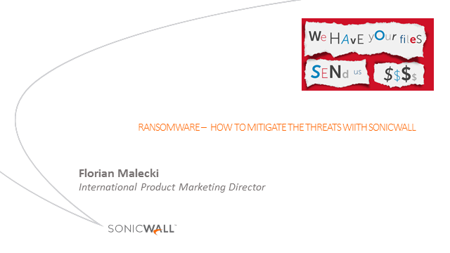 Cyber threats – fight back with SonicWall adaptive network security solutions