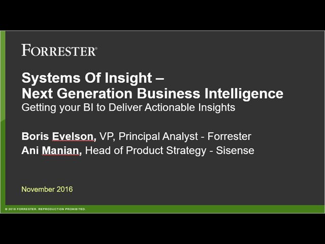 GETTING YOUR BI TO DELIVER ACTIONABLE INSIGHTS