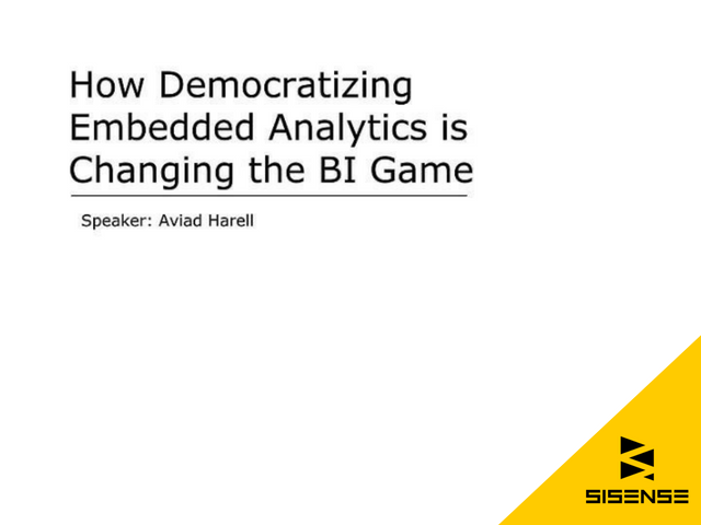How Democratizing Embedded Analytics is Changing the BI Game
