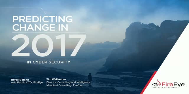 Predicting Change in 2017 in Cyber Security