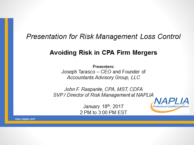 Avoiding Risk in CPA Firm Mergers