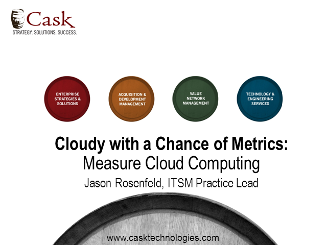 Cloudy with a Chance of Metrics: Measure Cloud Computing