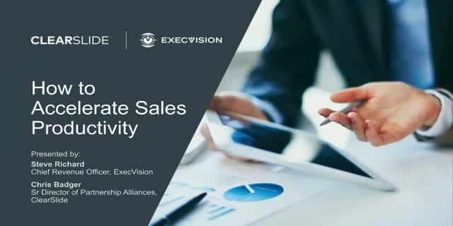How to Accelerate Sales Productivity