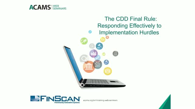 The CDD Final Rule: Responding Effectively to Implementation Hurdles