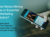 Social Media Mining. Hype or Essential for Marketing Analytics?