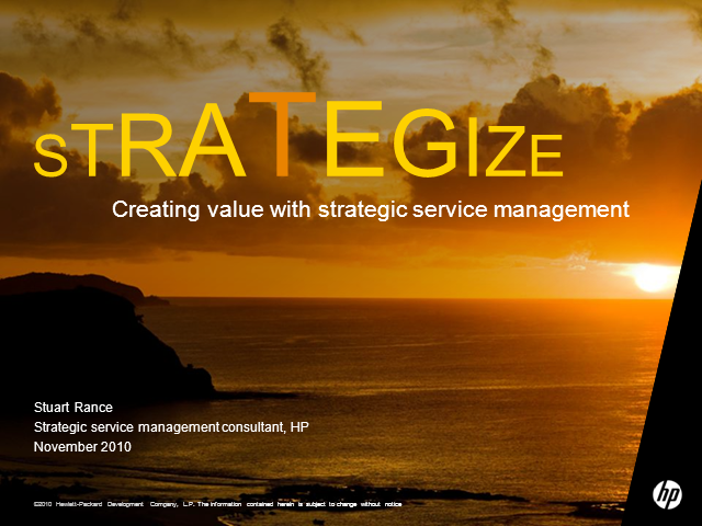 Strategic Service Management