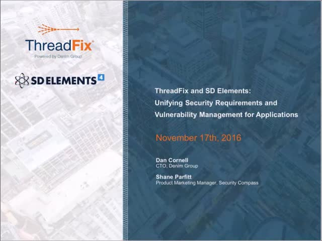 SD Elements and ThreadFix: A Powerful Integration for Application Security