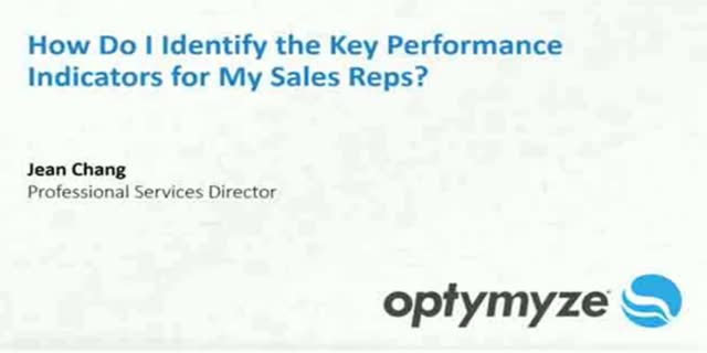Identifying the Key Performance Indicators for Your Sales Reps