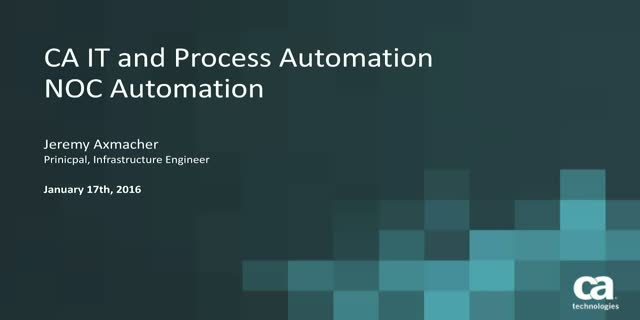 How Process Automation Works Within the NOC & Infrastructure