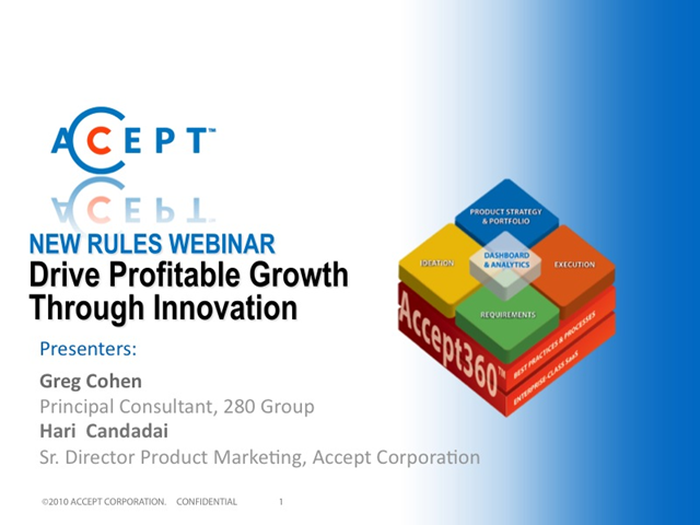 Drive Profitable Growth through Innovation