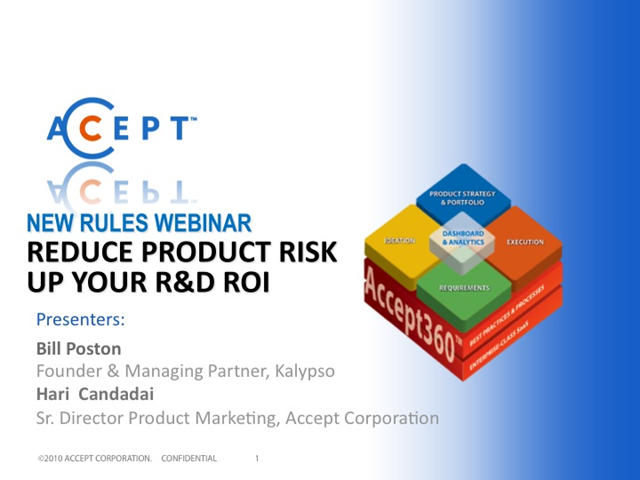 Reduce Product Risk: Up Your R&D ROI