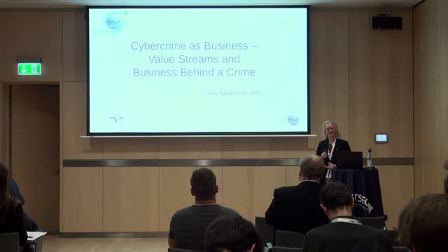 Cyber Crime as a Business Venture – Value Streams and Business Behind a Crime