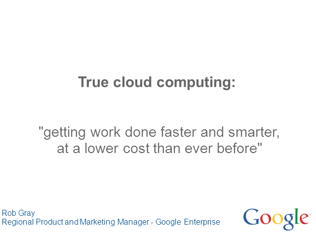 True Cloud Computing: Working Smartly and Efficiently