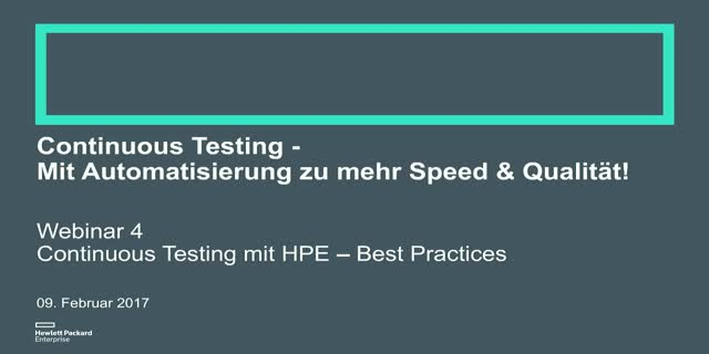 Continuous Testing - Webinar 4: Best Practices