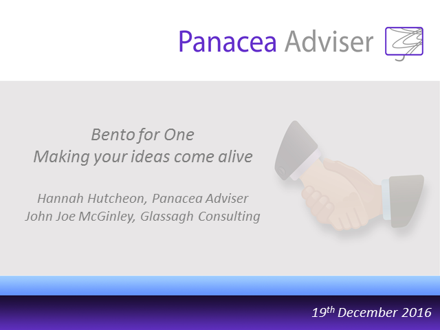 Bento for One Webcast – Making your ideas come alive