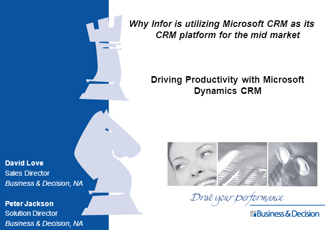Microsoft CRM!! Come learn about Why Infor is utilizing Microsoft