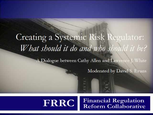 Creating a Systemic Risk Regulator