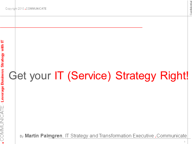 Get Your IT Service Strategy Right