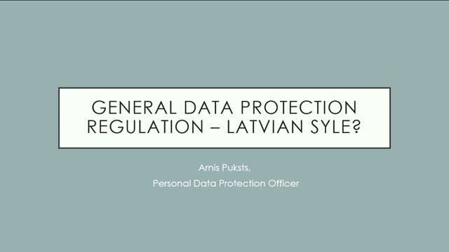 GDPR done in Latvian style