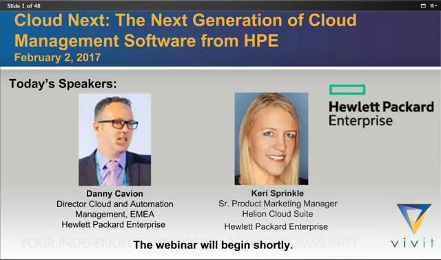 Cloud Next: The Next Generation of Cloud Management Software from HPE