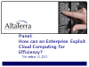 How Can an Enterprise Exploit Cloud Computing for Efficiency?
