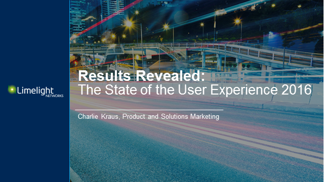 Results Revealed: The State of the User Experience 2016