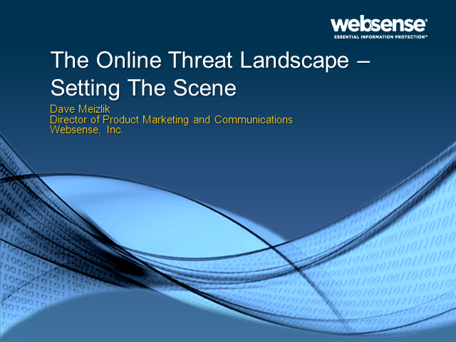 SC Summit: The Online Threat Landscape – Setting The Scene
