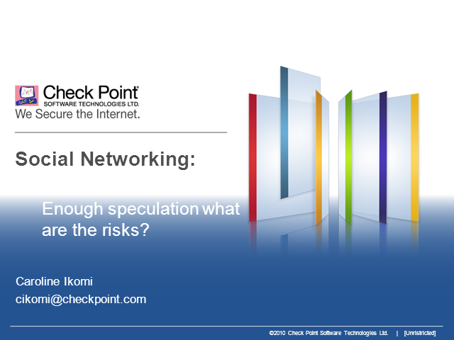 SC Summit: Social Networking – What Are The Risks?