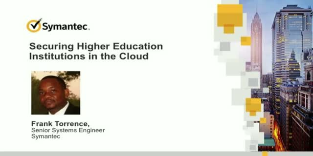 Securing Higher Education Institutions in the Cloud