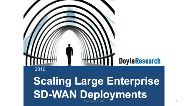 Scaling Enterprise SD-WAN Deployments