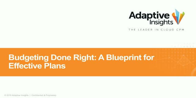 Budgeting Done Right: A Blueprint for Effective Plans