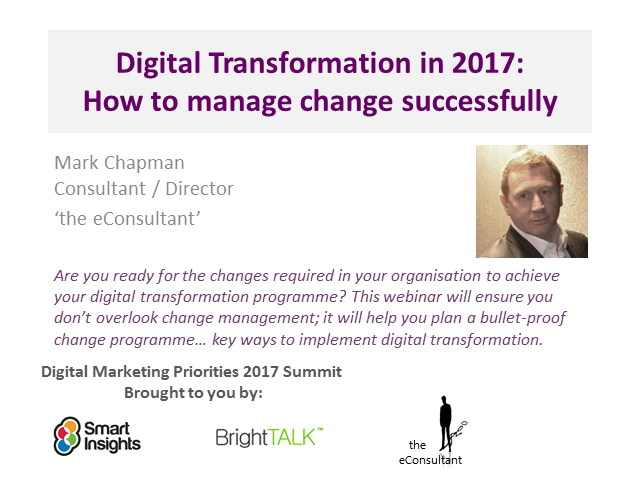 Digital Transformation in 2017: How to manage change successfully