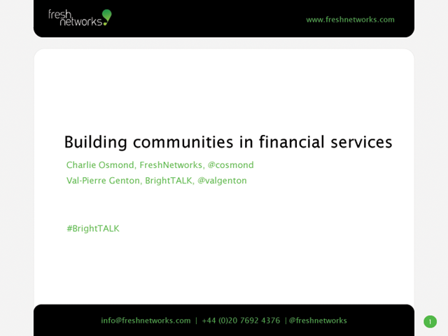 How to Build an Online Community in Financial Services
