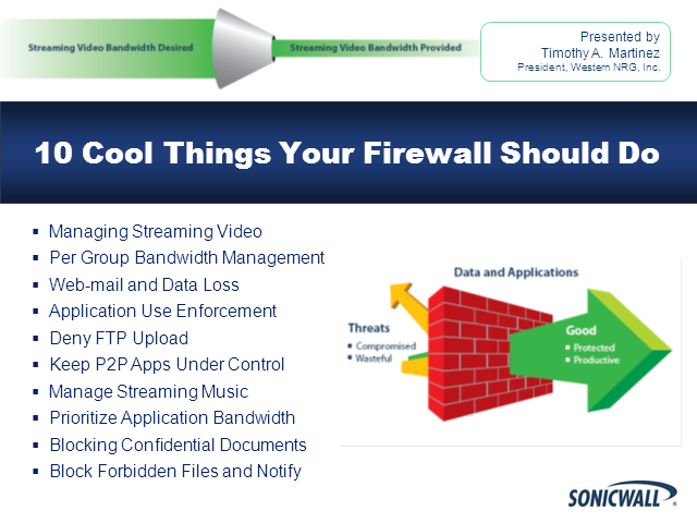 10 Cool Things Your Firewall Should Do