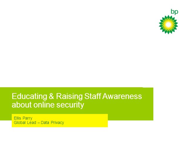 SC Summit: Educating & Raising Staff Awareness On Online Security