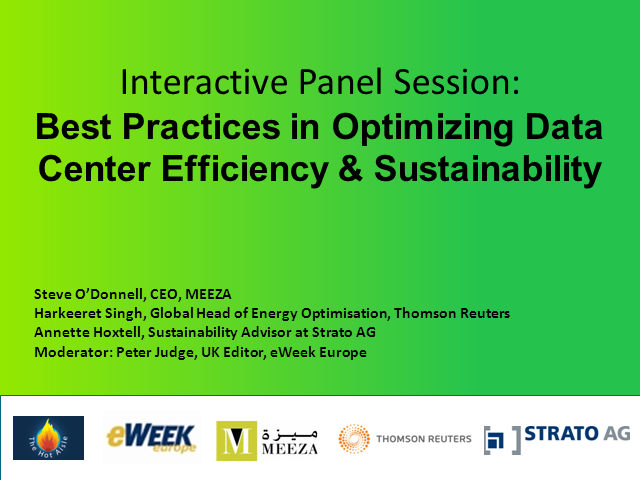 Best Practice: Optimizing Data Center Efficiency & Sustainability