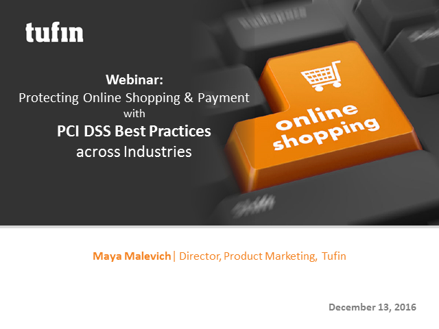 Protecting Online Shopping & Payment with PCI DSS Best Practices