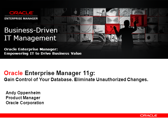 Gain Control of Your Database. Eliminate Unauthorized Changes.