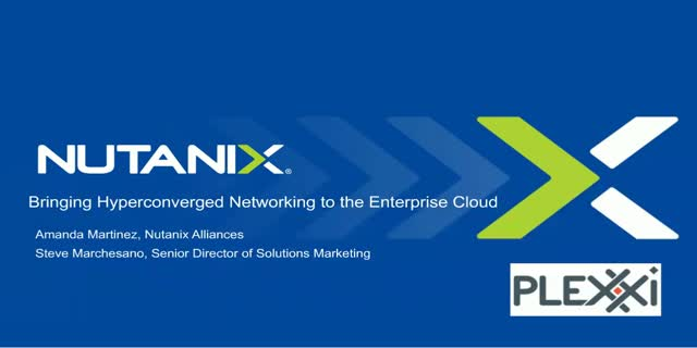 Bringing Hyperconverged Networking to the Enterprise Cloud