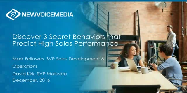 Discover 3 Secret Behaviors that Predict High Sales Performance