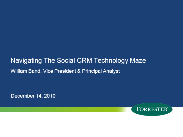Navigating the Social CRM Technology Maze