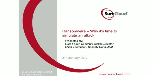 What is Ransomware and why it's time to simulate an attack?