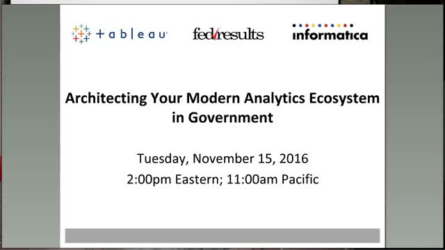 Architecting Your Modern Analytics Ecosystem in Government