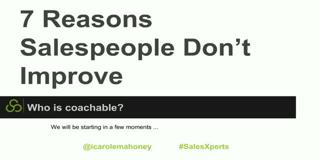 7 Reasons Salespeople Don't Get Better