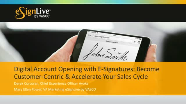 Digital Account Opening with e-signatures