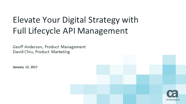 Elevate Your Digital Strategy with Full Life Cycle API Management