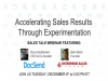 Accelerating Sales Results Through Experimentation
